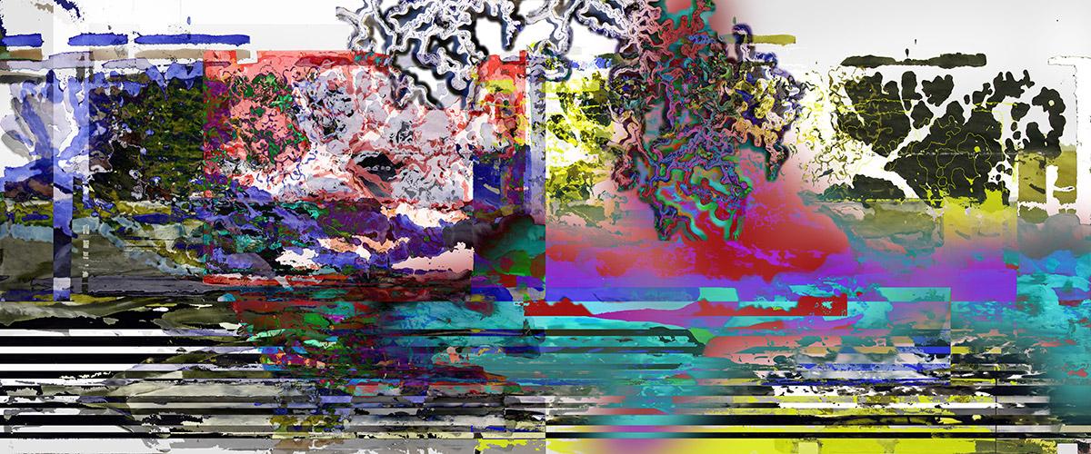 Michael Picke | Malerei | eichenwald im morgenrot