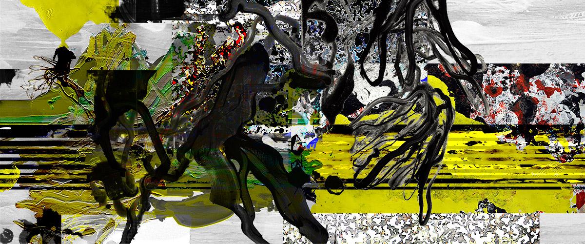 Michael Picke | Malerei | rapsfeld, gold und rabenschwarz