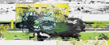 Michael Picke | Malerei | badender elch