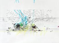 Michael Picke | Drawing | blue flames