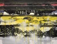 Michael Picke | Malerei | goldenshower dach der welt