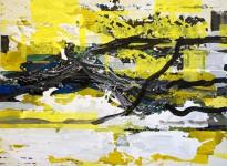 Michael Picke | Malerei | schneeschmelze am yukon