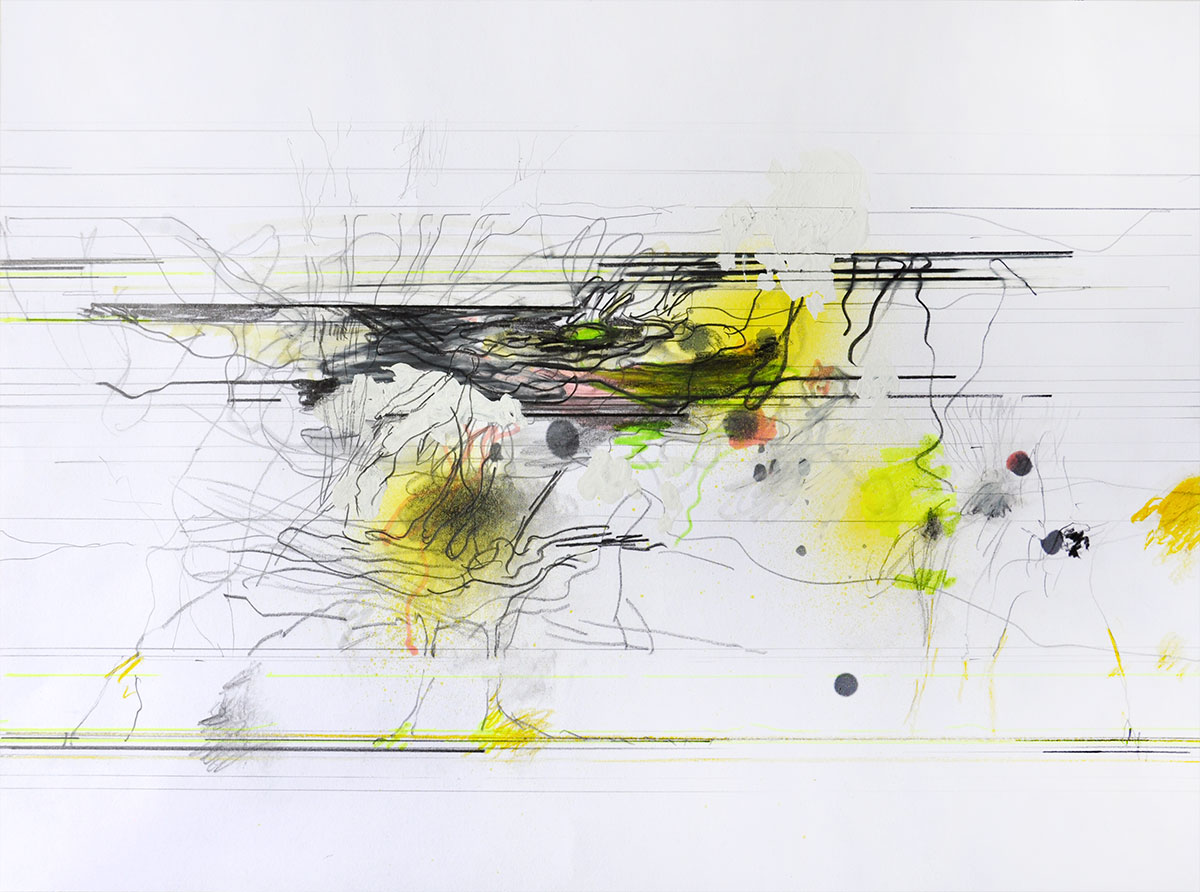 Michael Picke   Drawing   yellow lights